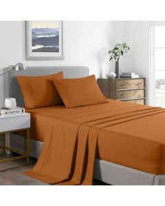 2000 Thread Count Bamboo Cooling Sheet Set  - King - Rust