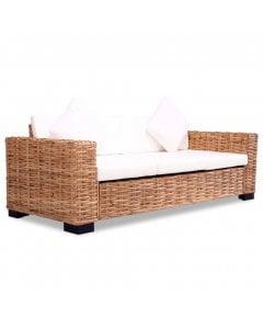3-seater Sofa Natural Rattan