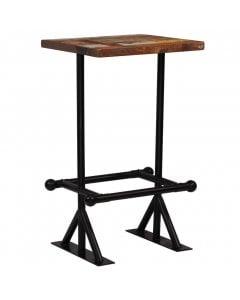 Bar Table Solid Reclaimed Wood Multicolour 60x60x107cm