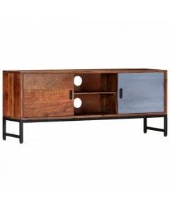 Tv Cabinet 120x30x49 Cm Solid Acacia Wood