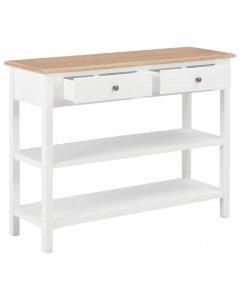 Sideboard White 110x35x80 Cm Mdf
