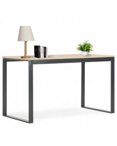 Computer Desk Black And Oak 120x60x73 Cm
