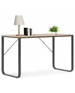Stylish  Computer Desk Black And Oak 120x60x73 Cm