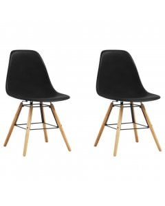 Dining Chairs 2 Pcs Black Plastic