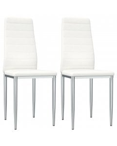 Faux Leather Dining Chairs 2 Pcs White