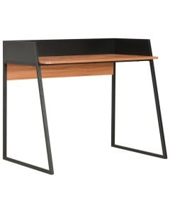 Desk Black And Brown 90x60x88 Cm
