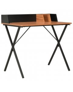 Desk Black And Brown 80x50x84 Cm