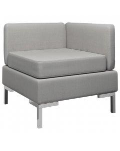 Sectional Corner Sofa With Cushion Fabric Light Grey