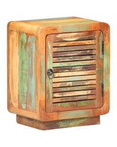 Solid Reclaimed Wood Bedside Cabinet 40x30x50 Cm