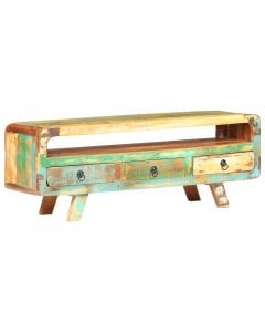 Tv Cabinet 117x30x41 Cm Solid Reclaimed Wood