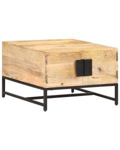 Coffee Table 67x67x45 Cm Solid Mango Wood