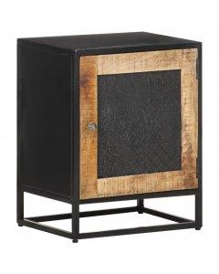 Bedside Cabinet 40x30x50 Cm Rough Mango Wood
