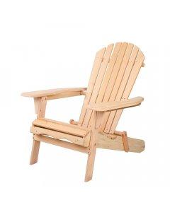 Adirondack Foldable Deck Chair - Natural