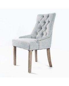 1X French Provincial Oak Leg Chair  - GREY