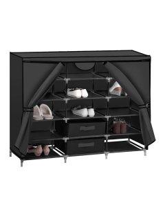 Shoe Rack DIY Portable Storage Cabinet Organiser Shelf Organizer Black