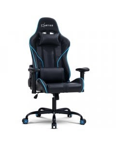 Gaming Office Chair Computer Chairs Leather Seat Black Blue